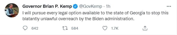 Gov Kemp Lawsuit Tweet